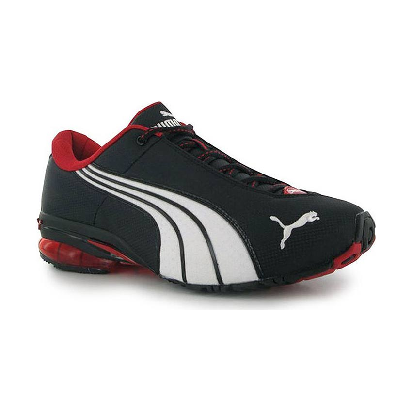 Puma Jago Nylon Mens Shoes Trainers BlackRed Sneakers Sports Footwear