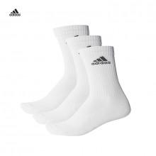 adidas 3 Stripe Sock 3 Pack White