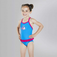 Speedo Fantasy Flower Frill Suit Girls