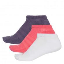 adidas 3 Stripe No Show Socks 3 Pack