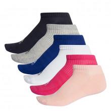 adidas 3 stripe Performance No Show Socks 6 Pack