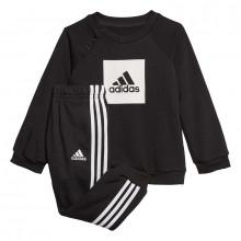 adidas 3 Stripe Logo Jogger Set Infants