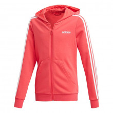 adidas Essentials 3 Stripe Full Zip Hoodie Girls