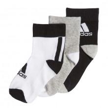 adidas Little Kids Ankle Socks 3 Pack